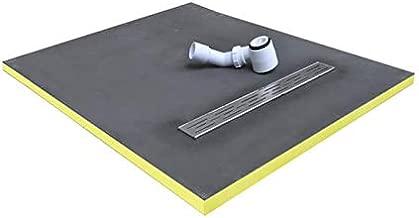 STEIGNER Receveur de Douche Mineral BASIC Drain Central Horizontal Receveur de Douche sans Bassin de Douche 60x60 cm