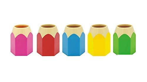 Portalápices para decoración de soporte de papelería Organizador de almacenamiento de oficina Vaso de lápices para mantener tu escritorio ordenado (tipo lápiz verde), paquete de 1