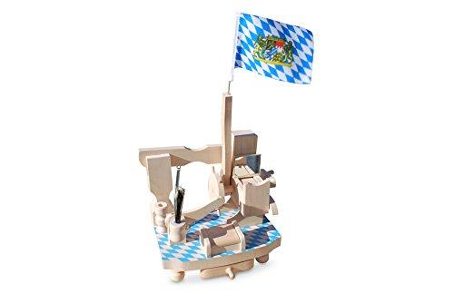 Geschenkbox XXL Schnupfmaschine blau-weiß Raute mit Hammer und Spiegel