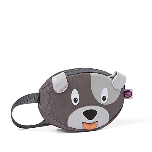 Affenzahn Bauchtasche - für Kinder im Kindergarten - Hund - Grau