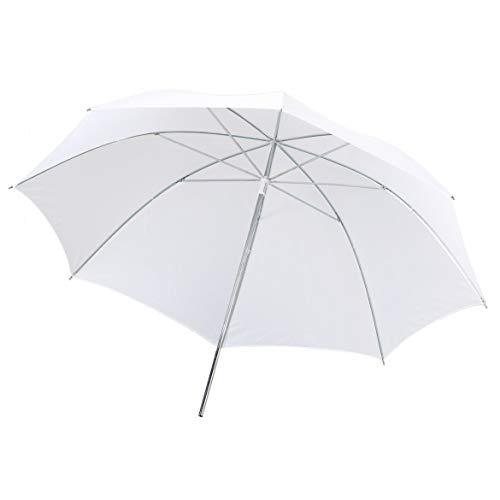 Portable Lightweight 33in 83cm Pro Studio Photography Flash Translucent Soft Lambency Umbrella White Nylon Material Aluminum Shaft(Translucent White)