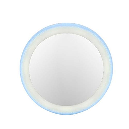 HUIHH Round HD Makeup Mirror Polymer Glass Mirror USB Chargeable Cosmetic Mirror 90 * 90 * 16MM A