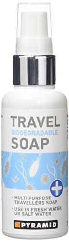 Pyramid - Savon de voyage multi-usages - biodégradable - pour voyageurs/backpackers/campeurs – 60 ml