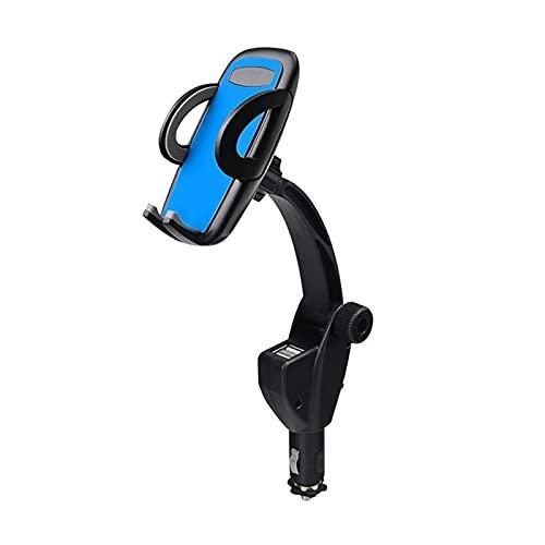 QWHK Store 12-24V Dual Dual Dual USB Puerto Cargador de automóvil Monte Cigarette Encendedor Ajuste para teléfono Celular Ajuste para iPhone/Samsung (Color : Blue)