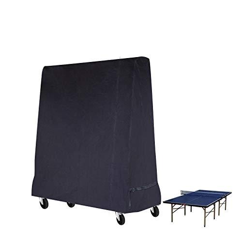 Buzazz Cubierta de mesa de ping pong de tamaño completo de alta calidad, impermeable, para interiores y exteriores, color negro (185 x 70 x 165 cm)