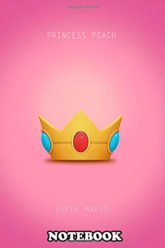 Notebook: Princess Peach Minimal Poster , Journal for Writing, College Ruled Size 6' x 9', 110 Pages