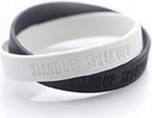 Stand-Up-Sprech-Up, Anti-Racismus-Armbänder, Schwarz / Weiß
