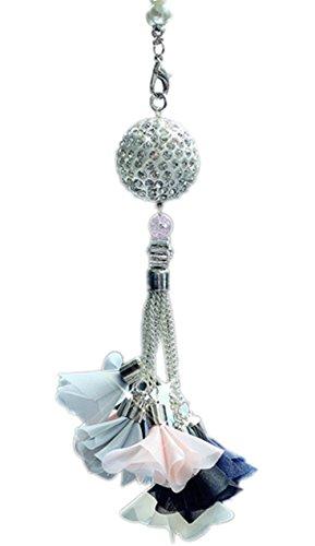 Chytaii Décoration Suspendue Ornement Pendentif de Voiture Rétroviseur Balle Diamant