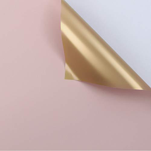 Dubbele Gouden Bloem Inpakpapier Waterdichte Geschenkverpakking Bloemist Boeket Wraps, 20 Vellen 23.6X23.6 Inch 10 stuks.