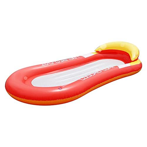 soloplay Cama hinchable flotante flotante para juegos de agua al aire libre, sofá para tomar el sol