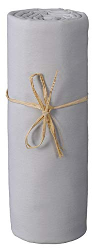 P'tit Basile - Sábanas bajeras Talla : 70 x 140 cm - jersey 100% Algodón bio ecologico color gris perla