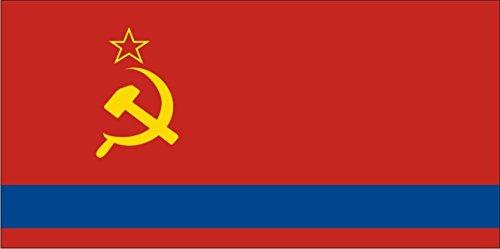 Autoaufkleber / Aufkleber Fahne A-LS80G Kazakhstan - Kasachstan 50 cm farbig / bunt - glatt - INDIGOS UG