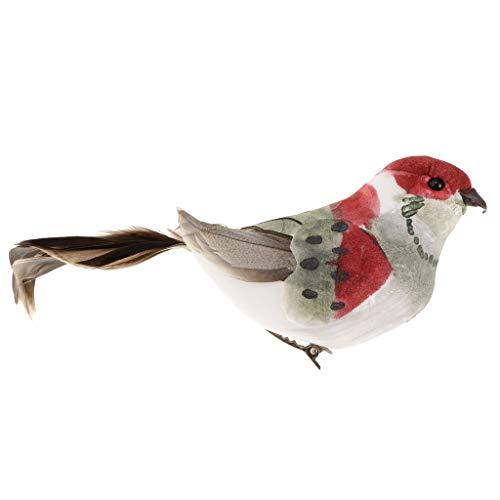 Sharplace Oiseaux Réaliste Modèle Artificielle Ornements Décoration Statues Artificiel - Oiseaux Clamp