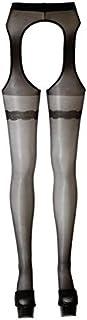 Cottelli Collection Cottelli Collection Stripstrumpfhose, M, schwarz