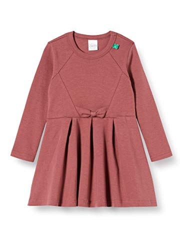 Fred'S World By Green Cotton Star Bow Dress Robe, Rouge (Dark Rose 018142001), 86 Bébé Fille