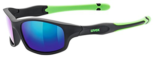uvex Unisex Jugend, sportstyle 507 Sonnenbrille, black mat green/green, one size