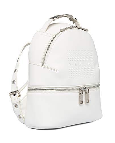 Replay Damen FW3085 Rucksackhandtasche, 001 OPTICAL WHITE, UNIC