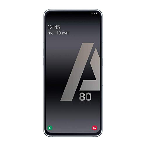 puissant Samsung Galaxy A80 – Smartphone 4G (6,7 pouces – 128 Go – 8 Go de RAM) – Argent – Version française