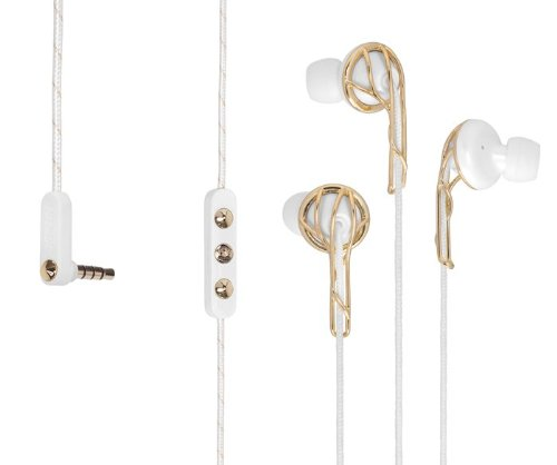 Frends Ella B Earbuds Headphones in Gold and White (Non-retail...