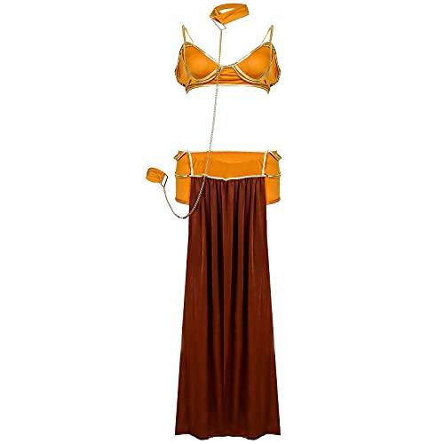 CWAIXXMM Cosplay de Halloween, Disfraz de Halloween Tallas de Halloween Cosplay Etapa de Rendimiento Cleopatra Princess Moya,M