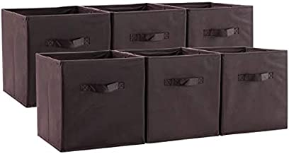 Xiclass Collapsible Fabric Storage Cubes Organizer Storage Box with Handles,Great for Nursery, Playroom, Closet, Home Orga...