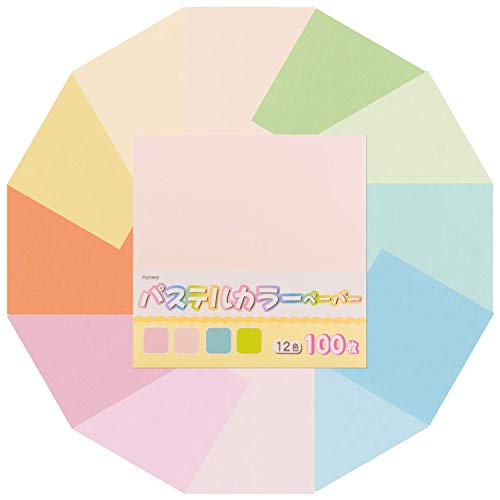 12 Pastel Colors Origami Paper, 100 Sheets, 6 inches Square, for Kids & Adults, Arts and Crafts Projects, Premium Quality, Made in Japan