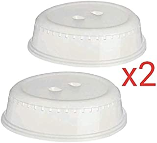 Plate Cover for Food. Set of 2 Microwave Dish Cover for Kitchen. Size 26 cm. Dishwasher Safe. Bestseller. by Delivered Direct.