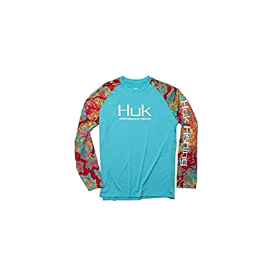 Huk Men's Kryptek Double Header Vented Long Sleeve Shirt | Long Sleeve Performance Fishing Shirt With +30 UPF Sun Protection, Kryptek Obskura Loki, Large