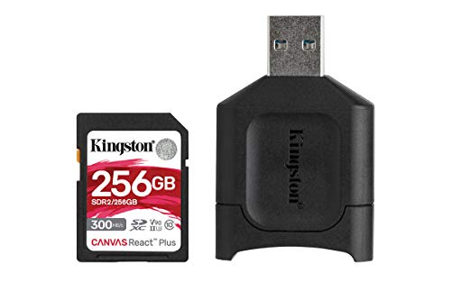 Kingston MLPR2/256GB SD Karten+ Kartenlesegeräte ( 256GB SDXC React Plus SDR2 + MLP Kartenlesegerät für SD )