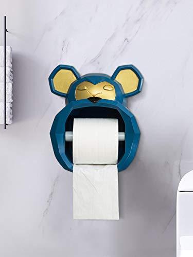 WANDOM Creativo Lindo toallero de Papel sin perforar Inodoro baño montado en la Pared Cocina Rollo de Papel Limpiador