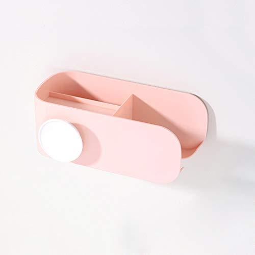 XIPOZAC Baño secador de Pelo Rack Baño Rack Hanger Hair Rack Rack de Almacenamiento Percha Libre Colgante de Pared Estante del conducto A+ (Color : Pink)