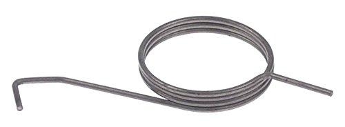 Drehfeder für Dosiereinheit ø 36mm Länge 40mm Drahtstärke ø 1,6mm L1 40mm L2 20mm L3 10mm Drehrichtung rechtsdrehend