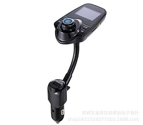 Morza T10 Wireless-In-Auto Bluetooth FM-Transmitter FM Transmitter Radio Radio Adapter mit 1,44 Zoll Display-USB Car Charger für iPhone für Samsung