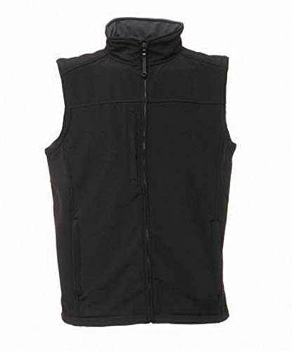 Regatta Flux Veste softshell sans manches imperméable et coupe-vent – Homme noir Black/Seal Grey (Solid)