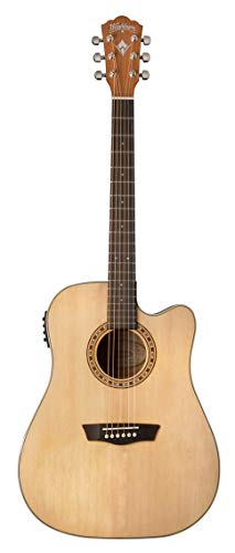 Washburn 6 String Acoustic-Electric Guitar, Right (WD7SCE-A)