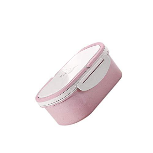 Xinjieda Cafetería Doble Caja del Almuerzo del Horno microondas Estudiante de educación Superior de la Cubierta del Compartimiento de Bento Preciosa Caja Aptitud Cajas