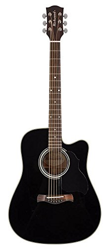 richw Brentwood D 40CE Master Series–Dreadnought, color negro