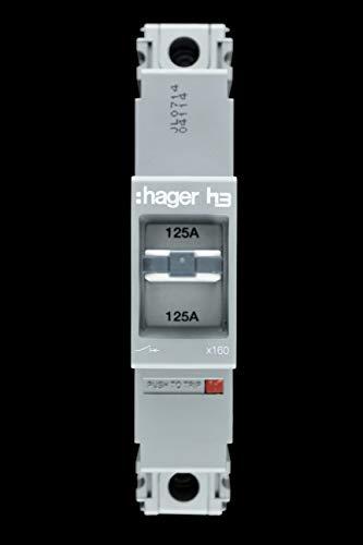 Hager hda123z Vaste thermo- en magnetische fotolijsten x160, LS, gevormde etui, 1 stang, 18 KA breaking capaciteit 125 A stroom