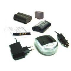 [Digitalkamera/ Camcorder Zubehör] Li-Ion Akku + Ladegerät (Netzteil & Kfz-Adapter) für NIKON DIGITAL D-SLR D40 D40x D60
