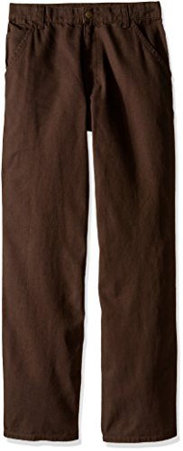Carhartt Boys' Little Washed Dungaree Pants (Lined and Unlined), Mustang Brown, 5
