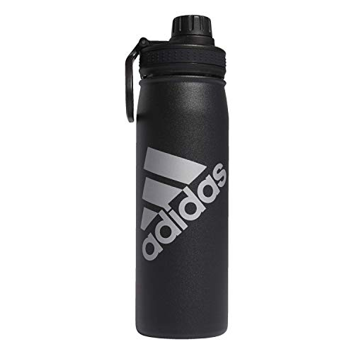 adidas 600 ML (20 oz) Metal Water Bottle, Hot/Cold Double-Walled Insulated 18/8 Stainless Steel