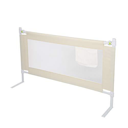 EBTOOLS Geländer für Kinderbett, tragbares Sicherheitsgitter, faltbar, 150/180/200 x 68 cm, Weiß (150 cm)