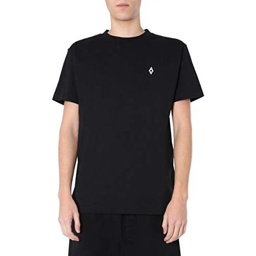MARCELO BURLON Luxury Fashion Uomo CMAA018S20JER0051025 Nero T-Shirt |