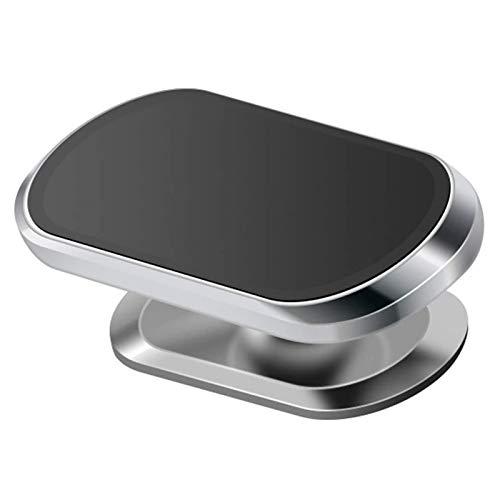 Soporte magnético de 360 ° para teléfono para automóvil, Tablero con Forma de Mini Tira, Soporte, Extra Fuerte con 8 imanes, para teléfonos celulares y Mini tabletas (Plata)