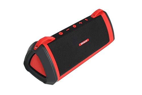 Aiwa Exos-3 Bluetooth Lautsprecher, Tragbare Party Speaker, Wasserdicht Bluetooth Speaker, 12 Stunden Spielzeit, perfekte Akustik, Rot