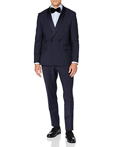 HUGO Herman/german203f1 Traje- Juego de Vestimenta, Azul Oscuro (405), 56 para Hombre
