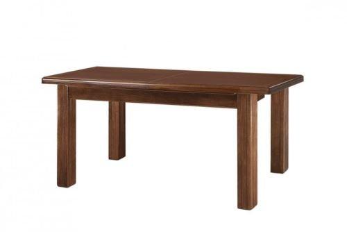 Table en bois rectangulaire extensible couleur noyer