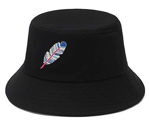 GEMVIE-Gorro Pescador Mujer Sombrero Pescador Hombre Bucket Hat de ala Ancha Protección...