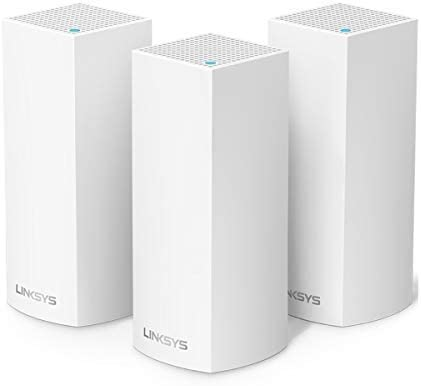 Linksys WHW0301-RM2-3PK Velop Mesh WiFi System Tri-Band AC6600, White, 3-Pack (Renewed)
