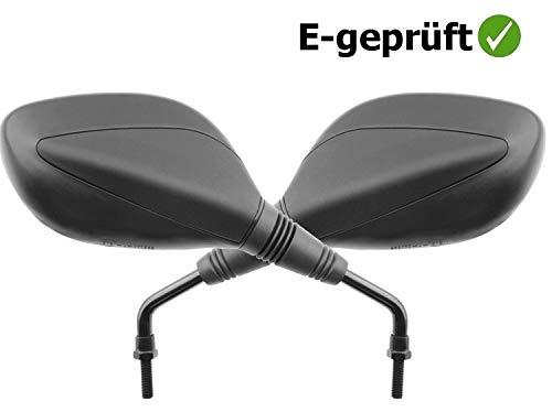 JMP Spiegel Paar schwarz für Roller Kymco Agility 50 125 Super 8 50 125